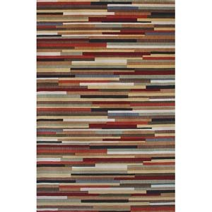 Tate Red Wool Rug 8 x 10