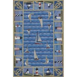 Blue Lighthouse Area Rug