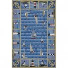 Blue Lighthouse Runner Area Rug