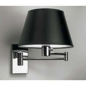 Nessen Polished Chrome Swing Arm Lamps