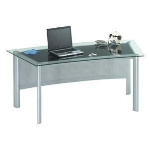 Wenge Glass & Aluminum Desk