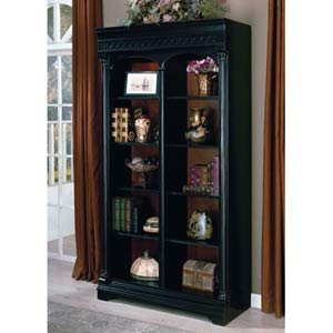 Chocolate and Cherry Bookcase with Lighting