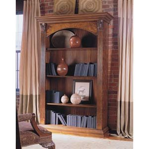 Walnut Marquetry Single Bookcase