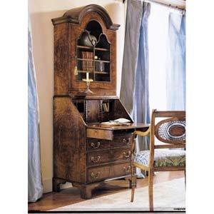 Walnut Rosewood DropLeaf Secretary Bookcase