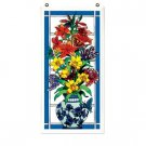 Floral Urn with Orchids Art Panel