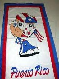 PUERTO RICAN GIRL TOWEL