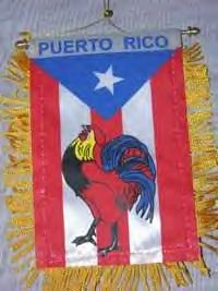 rooster banner with flag