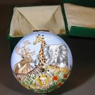 Chinemel B. Yee Wild African Animals Safari 4 inch Enameled Trinket Box