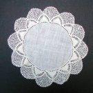"Vintage White Linen Doily Crochet Trim 11 1/2"""
