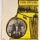 Cab Driver Mills Brothers Vintage Sheet Music 1963 Carson Parks
