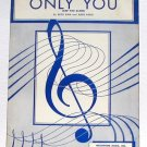 Only You (And You Alone) Buck Ram Vintage Sheet Music 1955