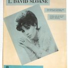 L. David Sloane Michele Lee Vintage Sheet Music 1967