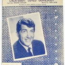 Everybody Loves Somebody Dean Martin Vintage Sheet Music 1958