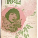 Jeannine I Dream of Lilac Time Vintage Sheet Music 1928