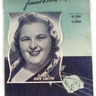 Johnny Doughboy Found A Rose In Ireland Kate Smith Vintage Sheet Music 1942