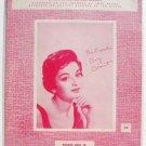 The Wayward Wind Vintage Sheet Music 1956 Gogi Grant