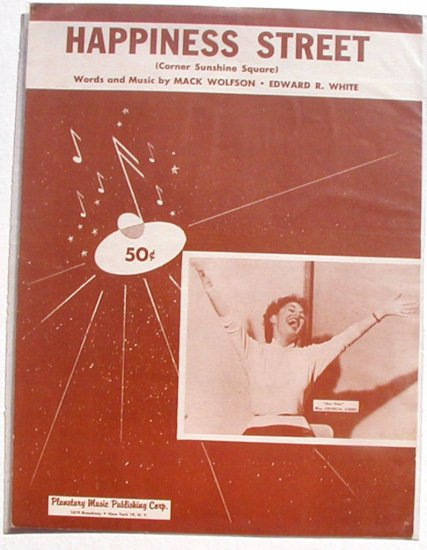 Happiness Street Vintage Sheet Music Georgia Gibbs 1955