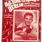 Hot Time in the Town of Berlin Vintage Sheet Music 1943 Frank Sinatra