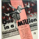 One In A Million 1936 Sheet Music Sonja Henie