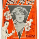 That's My Girl 1926 Sheet Music Leila Hyams