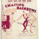 Happy Days Are Here Again Vintage Sheet Music 1929 Chasing Rainbows