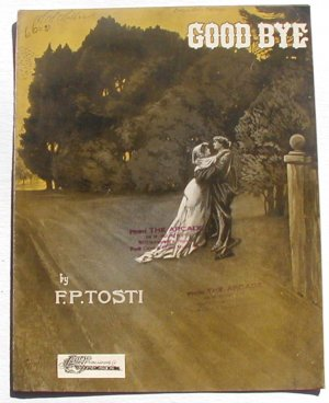 Good Bye Vintage Sheet Music 1902 F. P. Tosti