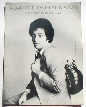 Movin' Out Vintage Sheet Music 1978 Billy Joel