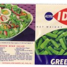 Acme Ideal Green Beans Vintage Vegetable Can Label