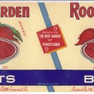 Roof Garden Beets Vegetable Can Label Somerset PA