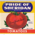 Pride of Sheridan Tomatoes Can Label New York State