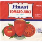 Finast Tomato Juice Can Label Somerville MA First National Stores