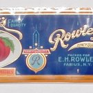 Rowley's Tomatoes Can Label Embossed Gilt Fabius NY  2lb 1oz.