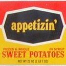 appetizin' Sweet Potatoes Can Label Dallas Texas