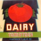 Dairy Brand Tomatoes Can label Salisbury MD