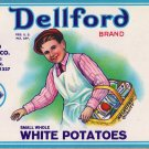 Dellford White Potatoes Can Label Brooklyn New York 16 oz.