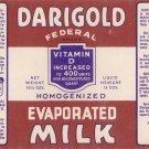 Darigold Evaporated Milk Vintage Can Label Seattle WA