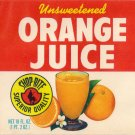 Shoprite Orange Juice Vintage Vegetable Can Label Elizabeth NJ