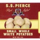 S.S. Pierce Small White Potatoes Can Label Boston MA
