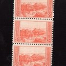 US Scott 741 Strip of 5 MNH VF 2c Grand Canyon