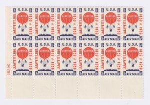US Scott C54 Plate Block of 12 MNH VF LL26390 7c Balloon Jupiter