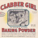 Clabber Girl Baking Powder Vintage Can Label Terre Haute IN