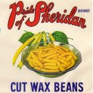 Pride of Sheridan Wax Beans Vintage Can Label New York