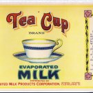 Tea Cup Evaporated Milk Cleveland OH United Milk Can Label