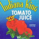 Indiana King Tomato Juice Can label Hobbs IN