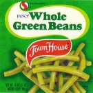 Town House Green Beans Safeway Oakland CA Vintage Vegetable Can Label
