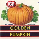 IGA Golden Pumpkin Can Label Chicago IL 15 oz.