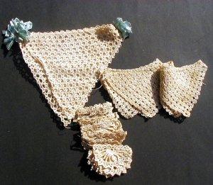 Vintage Crochet Trims 3 different