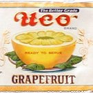 Vintage Can Label UCO Grapefruit Newark NJ Embosed Gilt