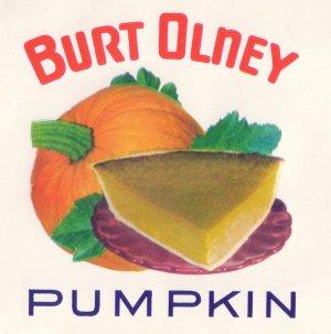 Vintage can label Burt Olney Pumpkin Ogdensburg NY