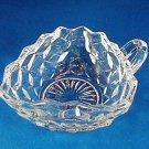 Fostoria American Elegant Glass Three Cornered Handled Nappy